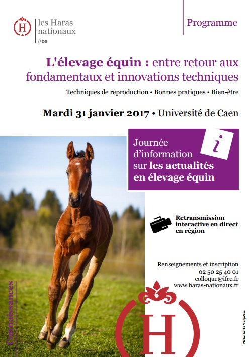 Replay disponible - Interventions journée de l'élevage équin 2017
