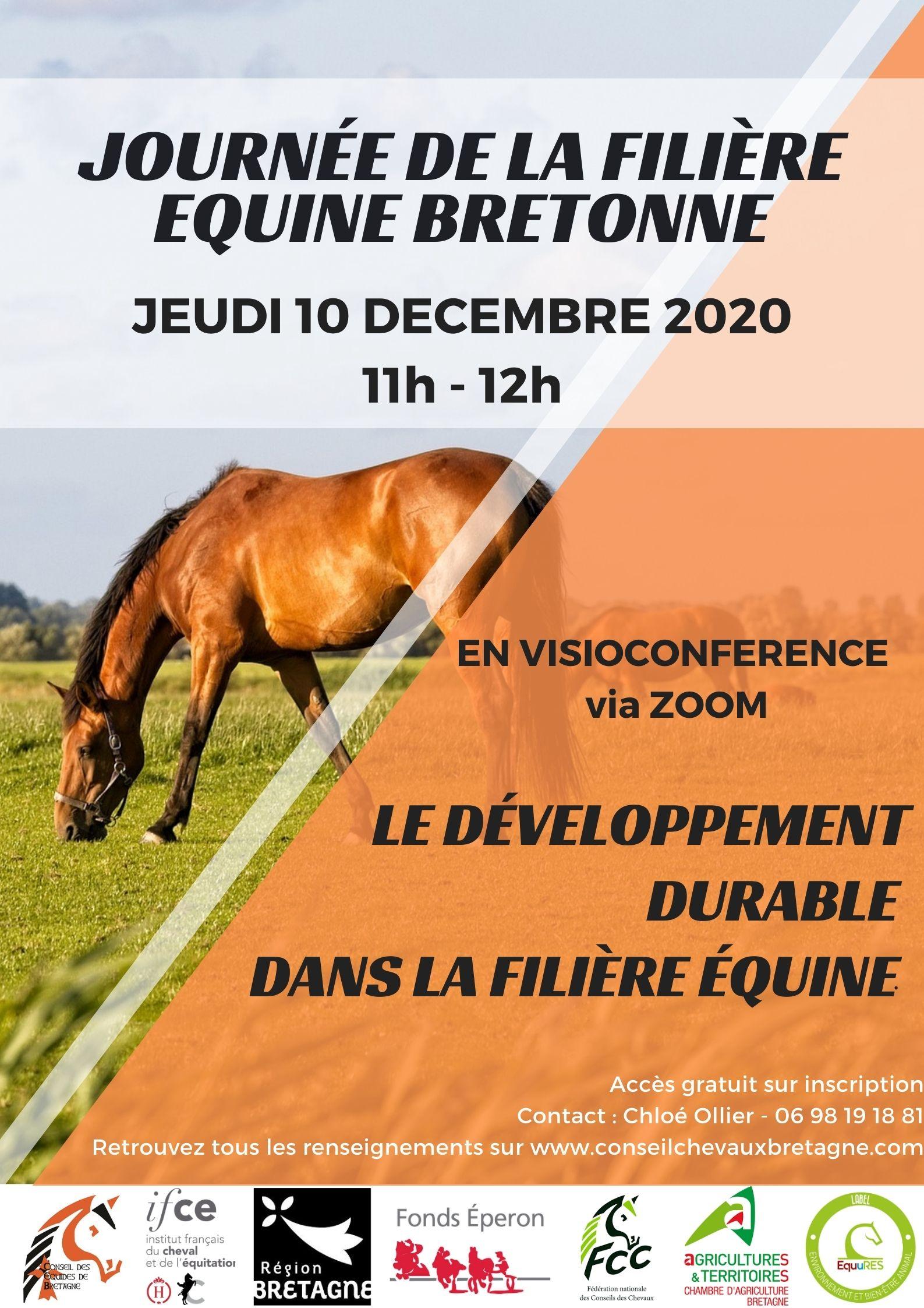 🔁 Replay : La Journée Filière Equine Bretonne  sur le développement durable dans la filière équine 🌳 🐎
