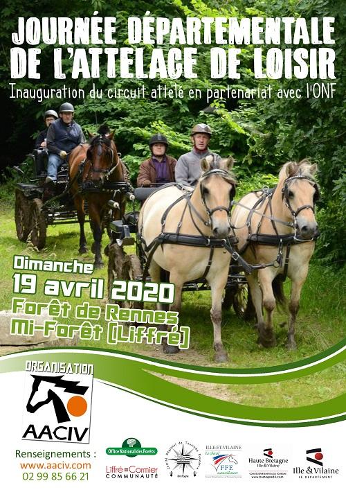 Journée Nationale Attelage Loisir en forêt de Rennes le 19 avril 2020