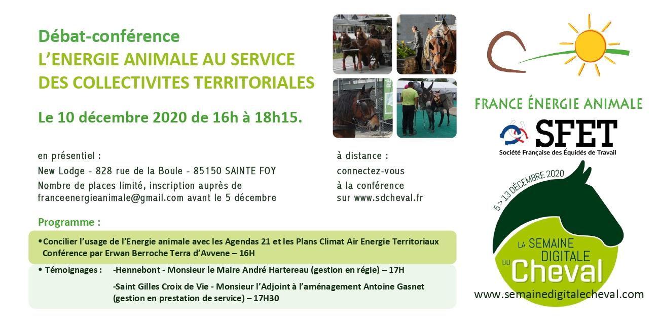 Débat-conférence : l'énergie animale au service des collectivités territoriales