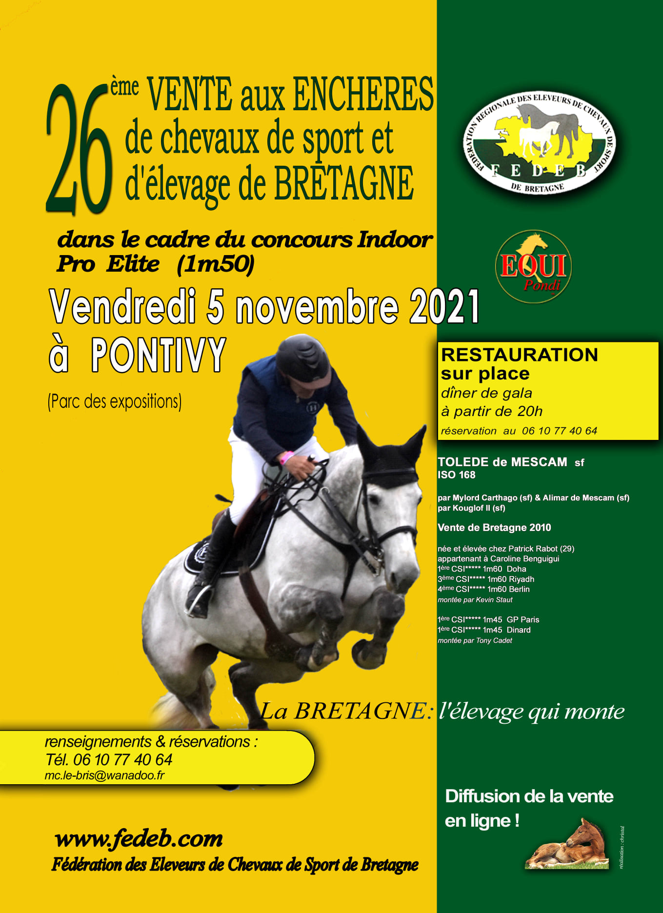 CSO - Pro Elite Amateur Prépa & 26ème vente de chevaux de sport de Bretagne - Pontivy (56)