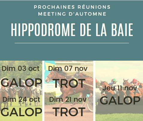 Meeting d'automne à l'hippodrome de la Baie - Saint Brieuc