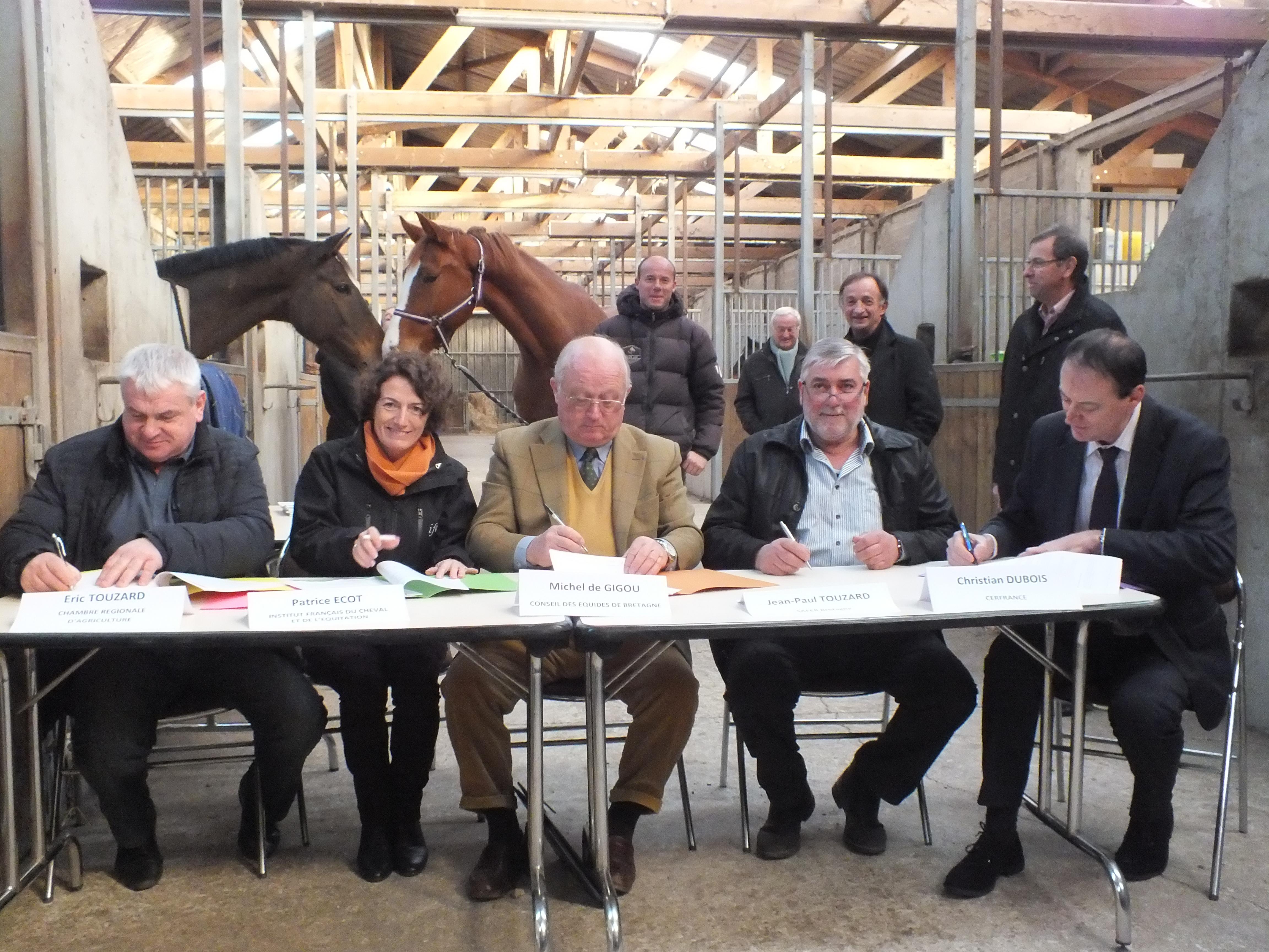 Un partenariat pour soutenir la filière équine en Bretagne