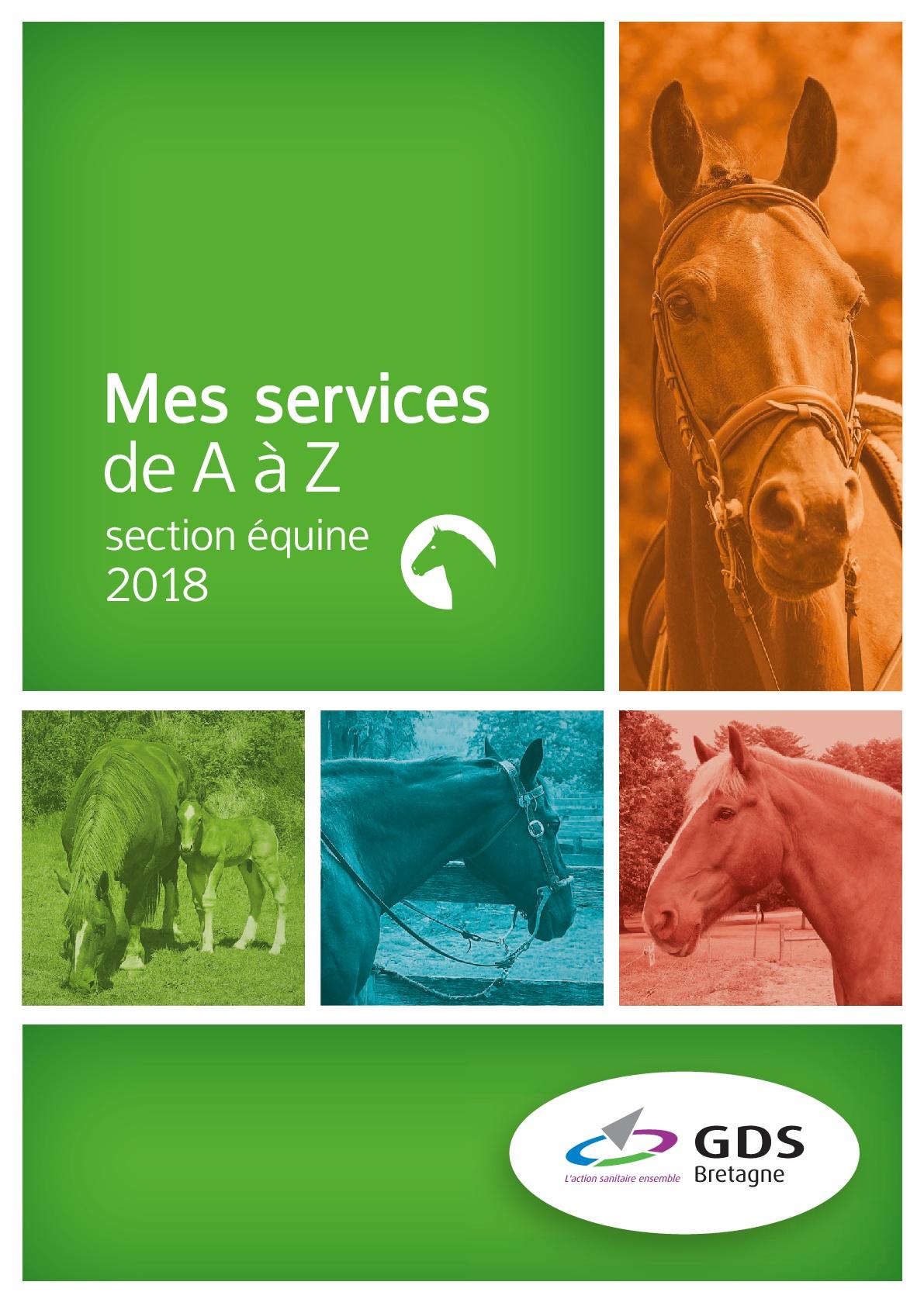 Carte de services 2018 de GDS Bretagne section équine