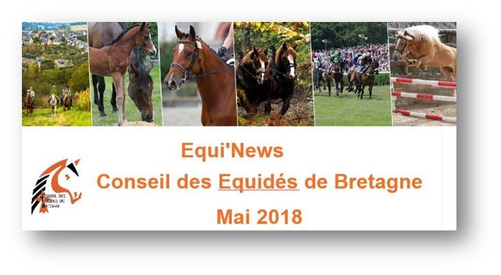 Equi'News Conseil des Equidés de Bretagne mai 2018