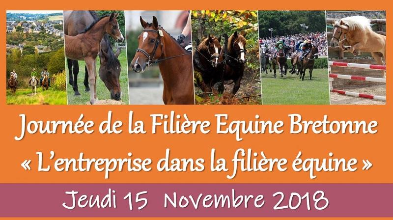 Programme Journée Filière Equine Bretonne le jeudi 15 novembre 2018