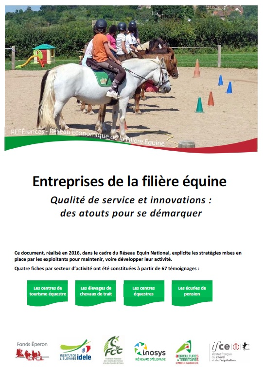 Réseau REFErences - Publications du Réseau Equin 2017