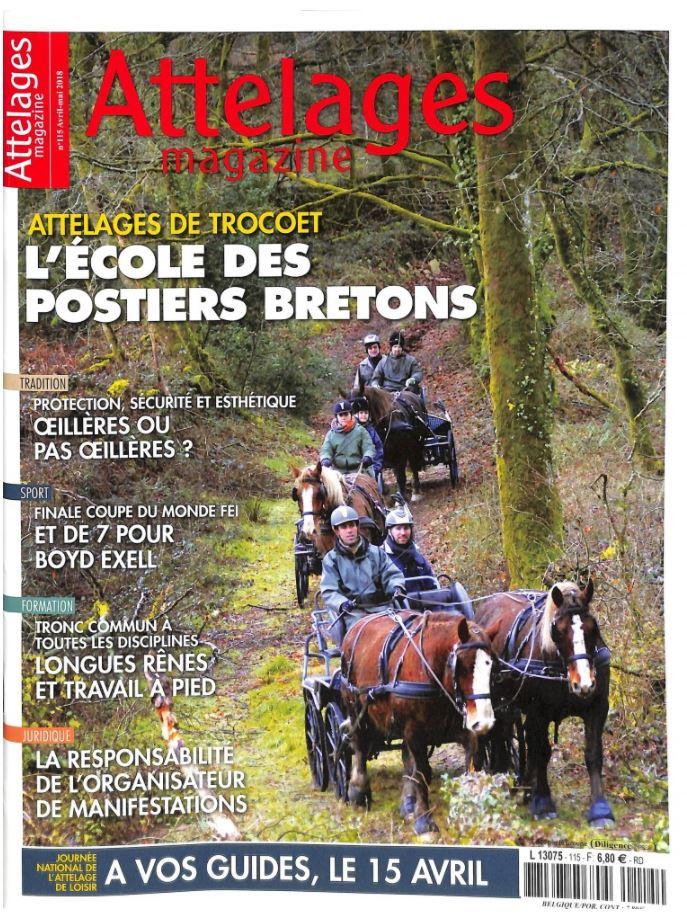 Les attelages Trocoet (56) font la Une d'Attelages Magazine