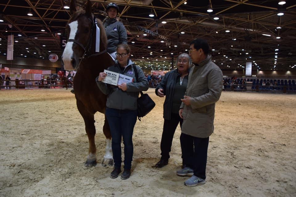 Victoire d'un cheval de trait breton à la Finale Loisirs à Equita'Lyon