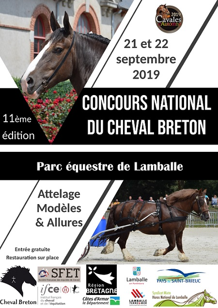 Concours National Breton à Lamballe 21 et 22 septembre