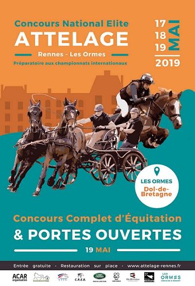 Concours d'attelage et Concours complet à Dol de Bretagne du 17 au 19 mai 2019