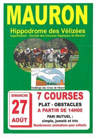 Réunion de courses sur l'hippodrome des Vélizées à MAURON
