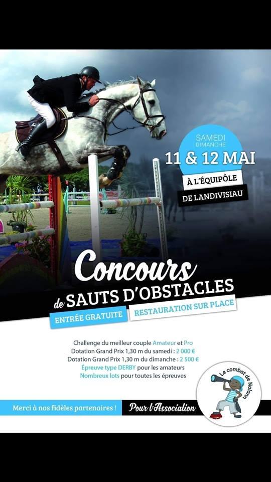 Concours de Saut d'Obstacles de l'Association « Le Combat de Nolann » 11 et 12 mai à Landivisiau